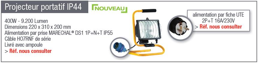 Projecteur portatif IP44