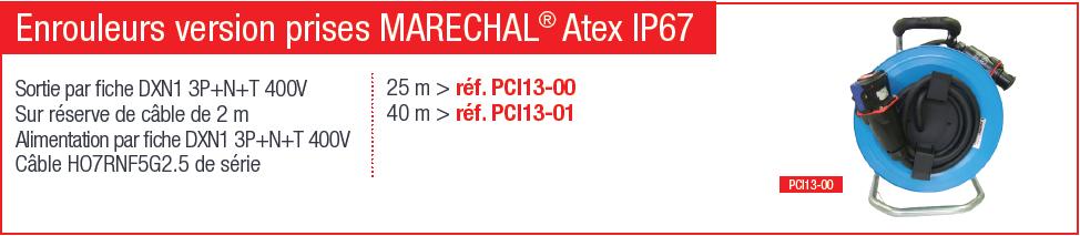 Enrouleur version prises maréchal AtEX IP67