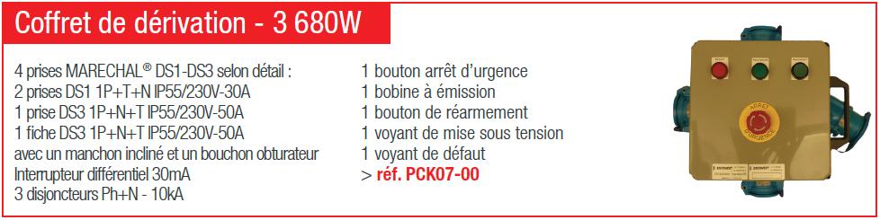 Coffret de dérivation - 3680 W