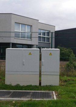 Armoire d'éclairage public fermée par Socomest Brumath Strasbourg Alsace Grand-Est