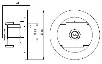 Plan de Boîte à clé cylindre - Clé et serrure FTH Thirard par Socomest serrurerie à Brumath Strasbourg Alsace Grand-Est