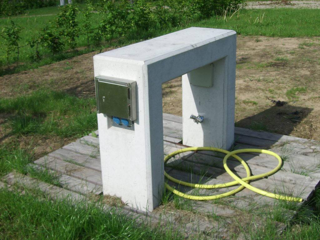 Borne de distribution d'énergie fixe Pontol avec Socomest Brumath Strasbourg Alsace Grand-Est