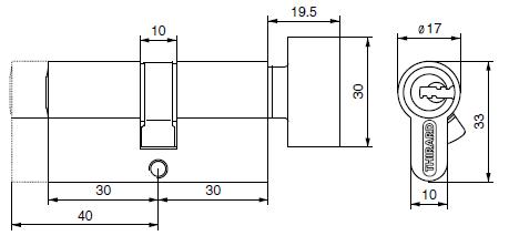 Cylindres profilés - 1 entrée à bouton