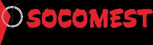 Logo de Socomest, matériel électrotechnique pour industrie, pompiers, réseaux publics d'énergie et serrurerie
