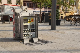 Démonstration de Borne escamotable Langmatz EK 600 avec Socomest Brumath Strasbourg Alsace Grand-Est